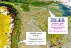 bottom ganga flowing to bangladesh