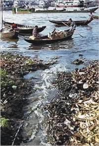 pollution and encroachment choking the Buriganga