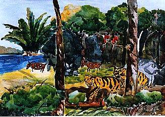 Children's painting  competion to save  the royal bengal tiger and the largest mangrove forest of the world, by CARDMA
