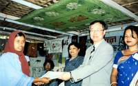 certificates after completion of course- South Korean Ambassador giving certificate at Nashikataha center March 14, 2004.