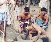 First dug hole at Noakhali District May 2004