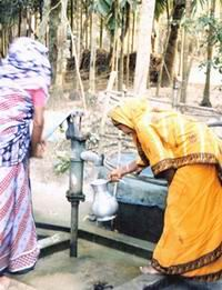 dug well connected with tube-well, Faridpur