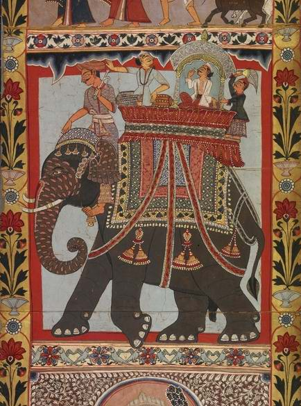 Gazir Pir riding elephant