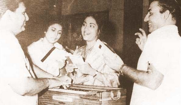 Suman Kaiyanpur, Geeta Dutt, Mohd. Rafi
