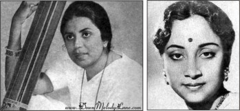 SUMAN KALYANPUR (left), GEETA DUTT (right