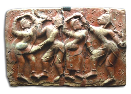 Terracotta plaque from the 18th century AD (Krishna Lila), Munsiganj