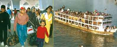 packed river transport without any security
