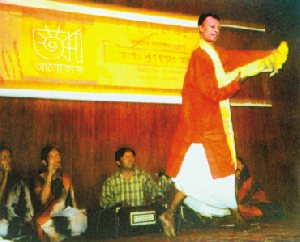 A stage performance by Mahua Shilpigoshthi