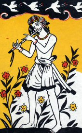 flute- famous painting by Nandalal Bose