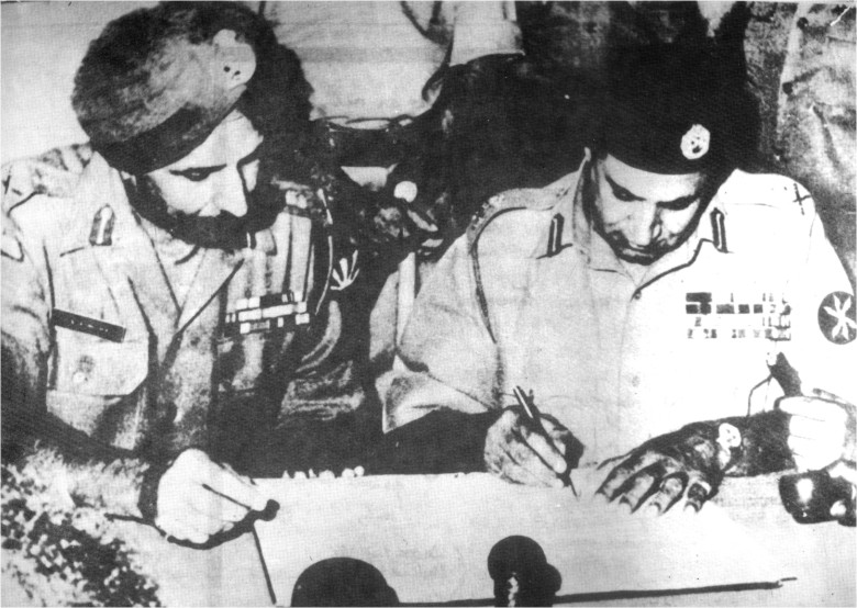 surrender of pakistan army