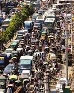 Dhaka Traffic jam